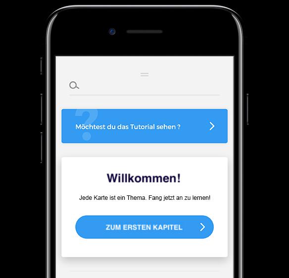 Startbildschirm der Appucations App - Willkommen